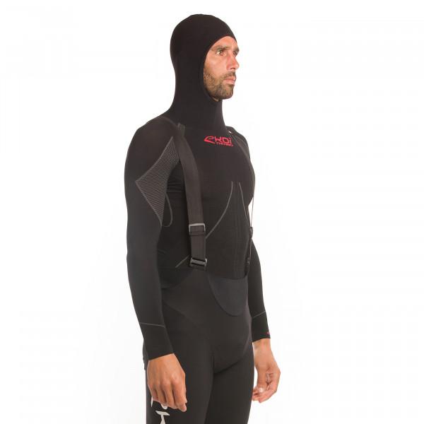 Sous-maillot ekoi thermo capuche noir 2021