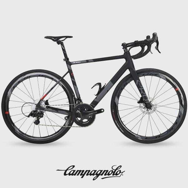 Bicicleta de carretera de carbono EKOI by DE ROSA VENTI Negro mate Campagnolo
