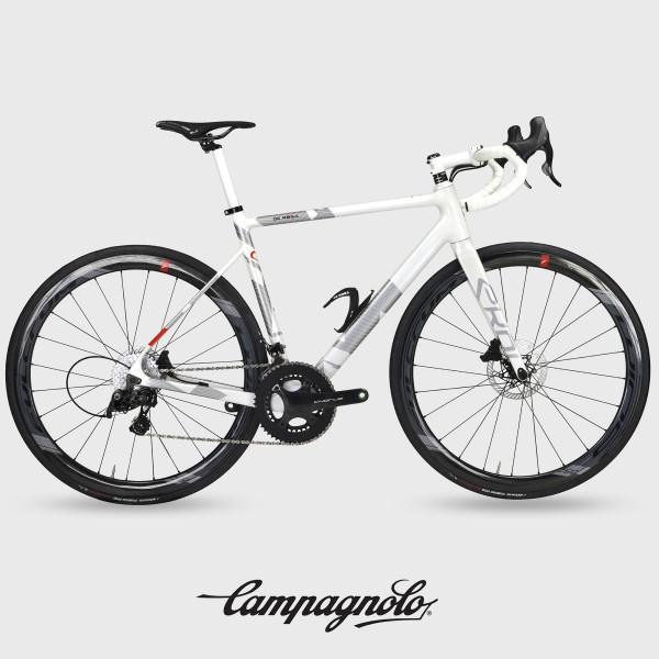 Vélo de route carbone EKOI by DE ROSA VENTI Campagnolo Blanc