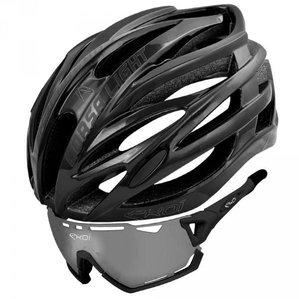 Sæt CORSA LIGHT hjelm sort  & PERSO EVO7 briller PH sort