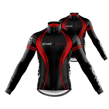 Pack Jersey + Winter Jacket EKOI CORSA Red