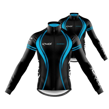 Pack Jersey + Winter Jacket EKOI CORSA Blue