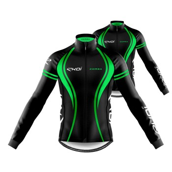 Pack Jersey + Winter Jacket EKOI CORSA Green
