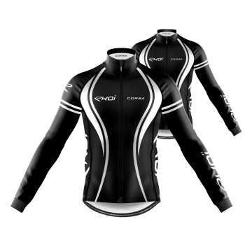 Pack Jersey + Winter Jacket EKOI CORSA Black White