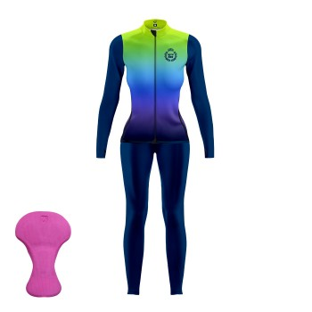 Gear Jacket + Bibtights EKOI LADY ATHENA NEON GREEN