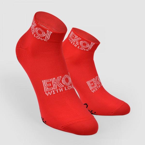 Socquettes Femme Ekoï Stella Rouge
