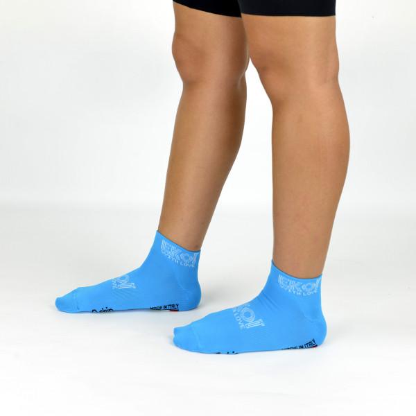 Socquettes Femme Ekoï Stella Turquoise