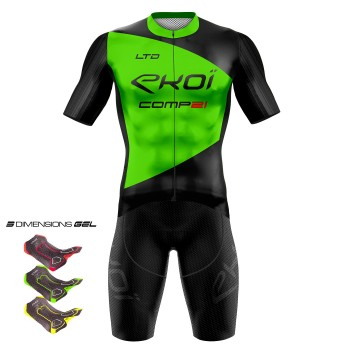 Gear 3D GEL EKOI COMP21 Black/Neon Green