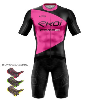 Gear 3D GEL EKOI COMP21 Black/ Neon Pink