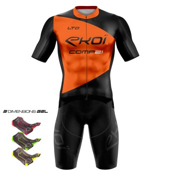 Tenue 3D GEL EKOI COMP21 Noir Orange fluo