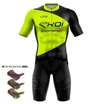 Outfit 3D GEL EKOI COMP21 Černá/žlutá fluo