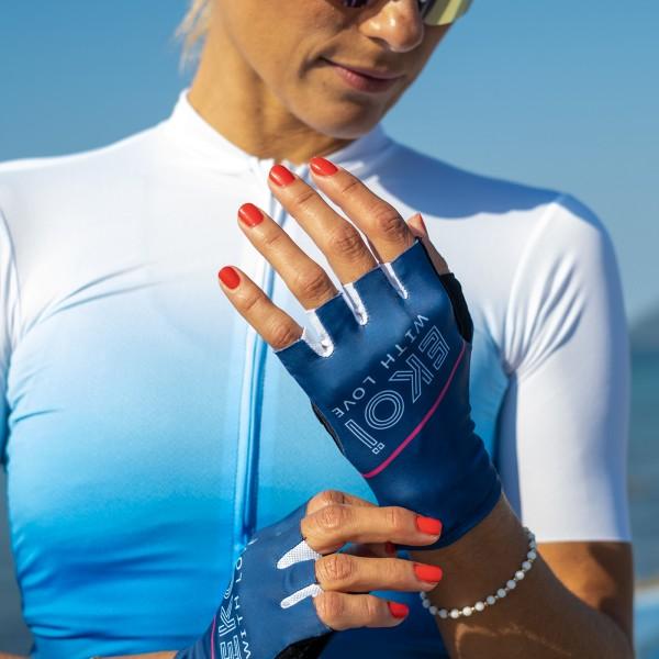 Gants vélo Femme EKOI GRETA Bleu