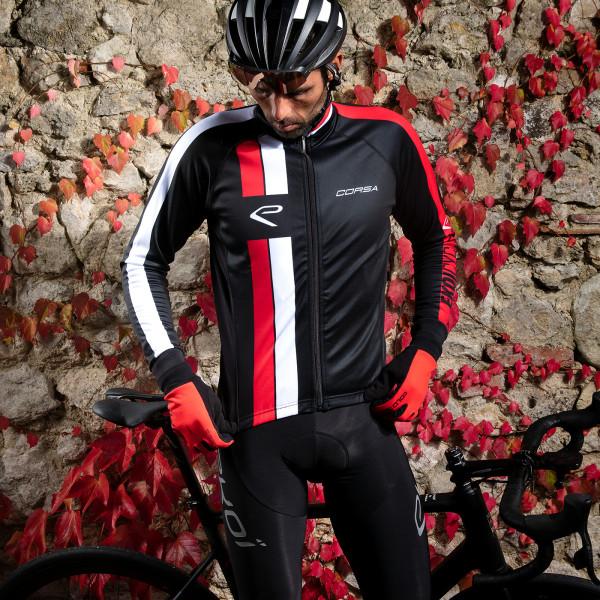 Veste thermique EKOI CORSA Noir Rouge