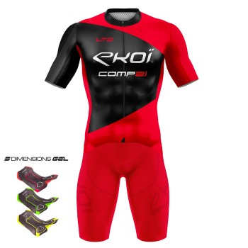 Tenue 3D GEL EKOI COMP21 Rouge Noir