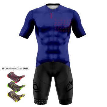 Tenue 3D GEL EKOI GRAPHIK Bleu Royal