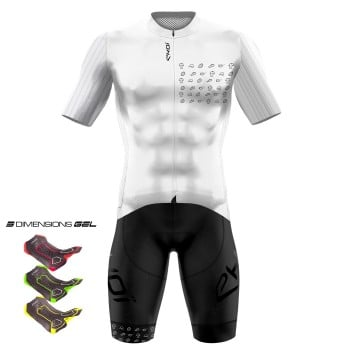 Tenue 3D GEL EKOI GRAPHIC Blanc
