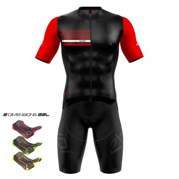Gear 3D GEL EKOI AERO LINE Black/Red