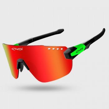 Glasses EKOI PREMIUM 80 LTD Black Green Revo Red