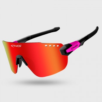 Glasses EKOI PREMIUM 80 LTD Black Pink Revo Red