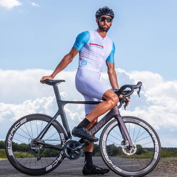 Cuissard vélo EKOI 3D GEL EVO Blanc
