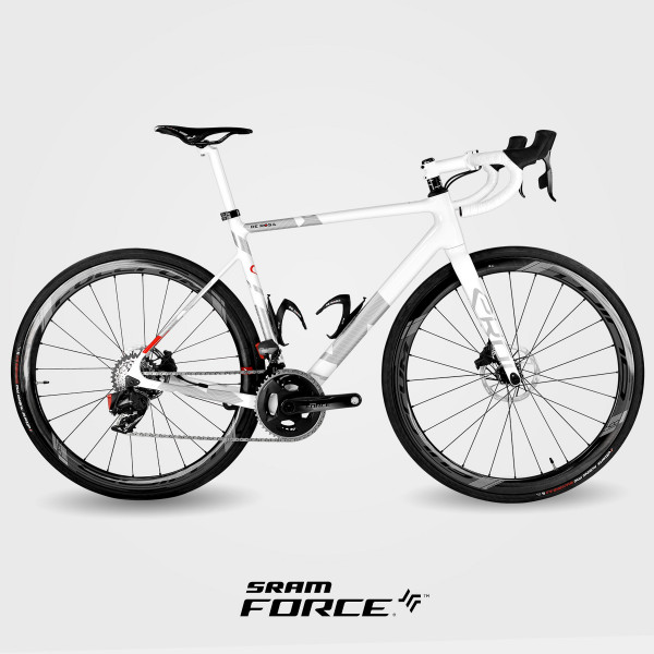 Cykel EKOI by DE ROSA VENTI carbon SRAM FORCE hvid