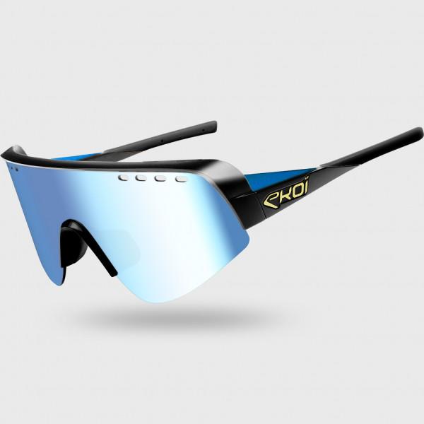 サングラス EKOI TWENTY LTD ブラック・ブルー Cat3 HD ブルー
