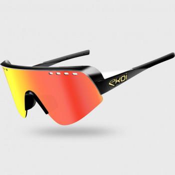 Glasses EKOI TWENTY PRO Black/White Cat3 HD Red