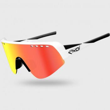 Glasses EKOI TWENTY PRO White/Black Cat3 HD Red