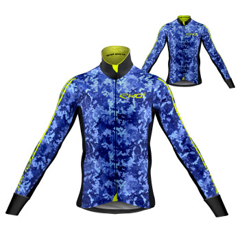 Sæt termojakke + trøje KAMO blå