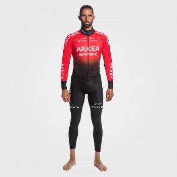 Sæt termojakke + trøje + lange cykelbukser PRO TEAM ARKEA SAMSIC Rød