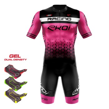 Maillot été EKOI LTD RACING Rose fluo