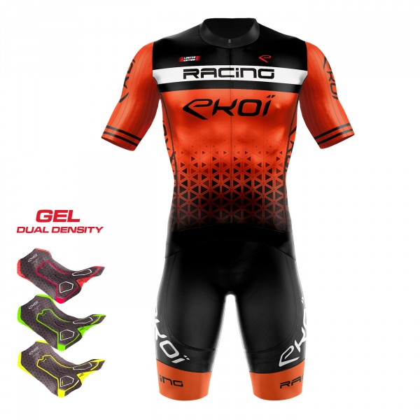 Set 3D GEL EKOI LTD RACING Orange Fluo