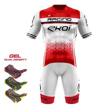 Gear 3D GEL EKOI LTD RACING White/Red