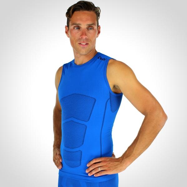 Běžecké tričko EKOI RUN bez rukávů Modrá