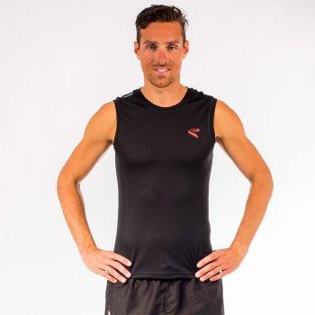 Tshirt EKOI RUN sans manches Noir