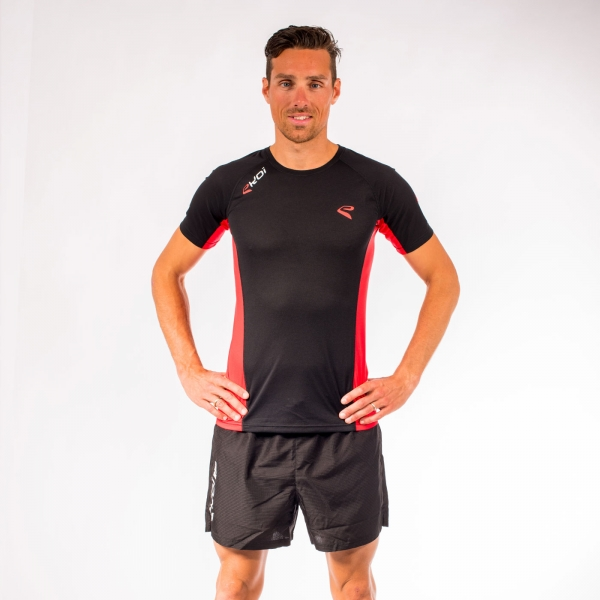 Tshirt EKOI RUN Cool manches courtes Noir