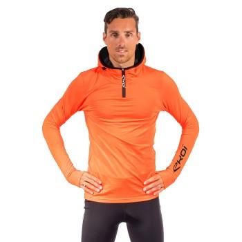 Hættetrøje med lynlås EKOI orange