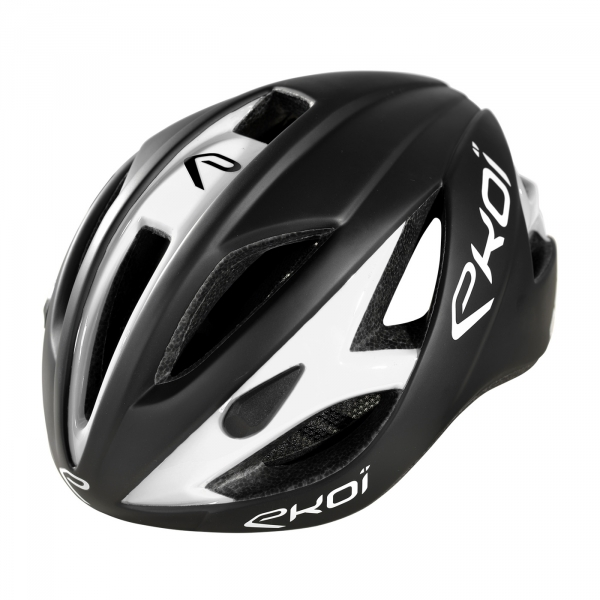 EKOI AR13 matt black / white helmet