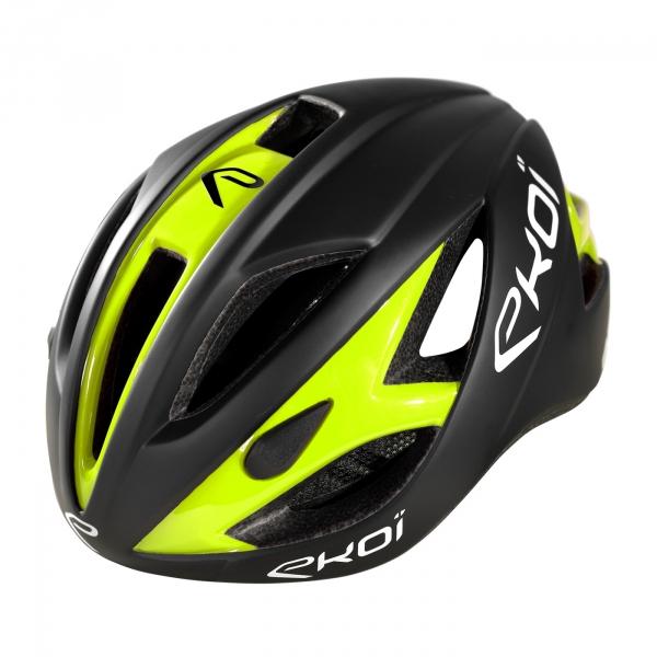 EKOI AR13 matt black / fluo yellow helmet