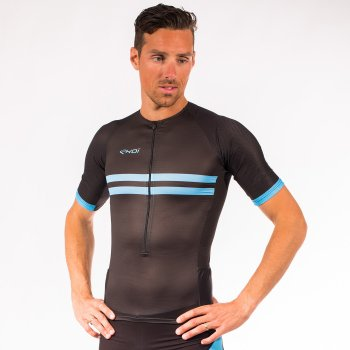 EKOI Hydro Black / Blue short sleeve Tri top
