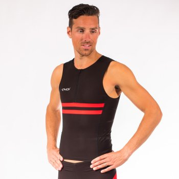EKOI Hydro Black / Red sleeveless Tri top