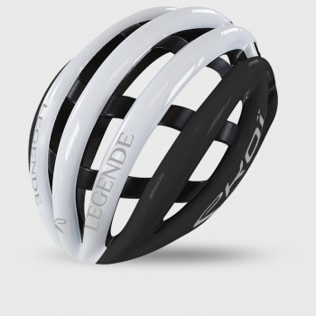 EKOI LEGENDE WHITE & BLACK HELMET