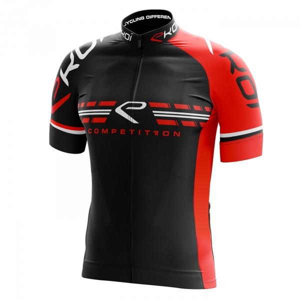 Fietsshirt EKOI COMP11 Zwart Rood