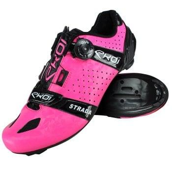 Buty szosowe EKOI Strada Cristal Fluo Różowy