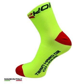 EKOI RUN Comfort Yellow running socks