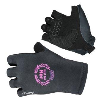 Czarne letnie rękawice na rower EKOI LADY