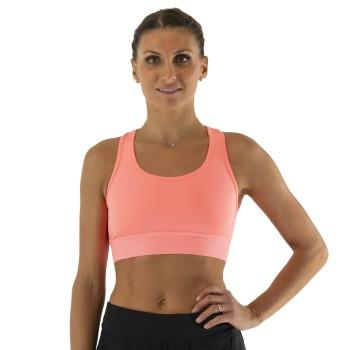 Stanik sportowy EKOI LADY RUN Never Quit Pomarańczowy pastelowy