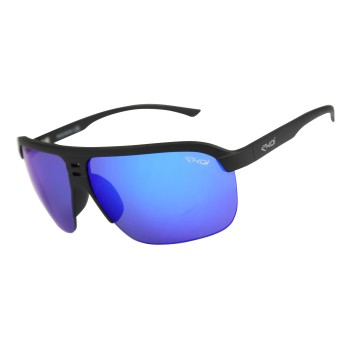 EKOI PILOT Matt black sunglasses, with Revo blue lens