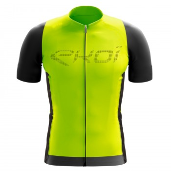 EKOI Perforato Yellow fluo short sleeve jersey