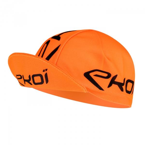 Casquette vélo EKOI Route Orange fluo